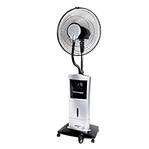 ventilateur sur pied avec fonction vaporisation anti moustiques humidificateur d 39 air machine. Black Bedroom Furniture Sets. Home Design Ideas