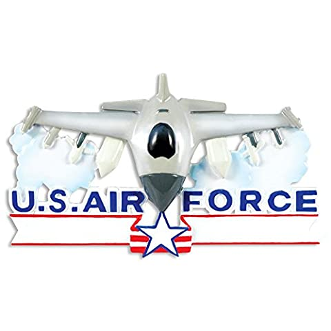 Décoration de Noël personnalisée armées forces- Air Force Fighter Jet - WE CUSTOMIZE for you