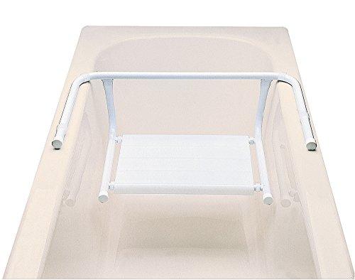 Siège pour baignoire en Polypropylène finition blanche, 21 x 41 x 67 cm -PEGANE-