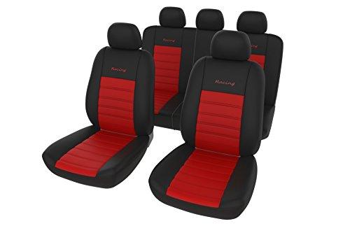 Autositzbezüge / Auto Sitzbezug Set Universal in Schwarz Rot / Schonbezüge / Alternativwahl zu Einwegbezügen