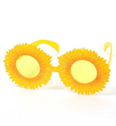 Brille Sonnenblume, Motivbrille, Karneval, Mottoparty, Festival, Accessoire (Mardi Sonnenbrille Gras)