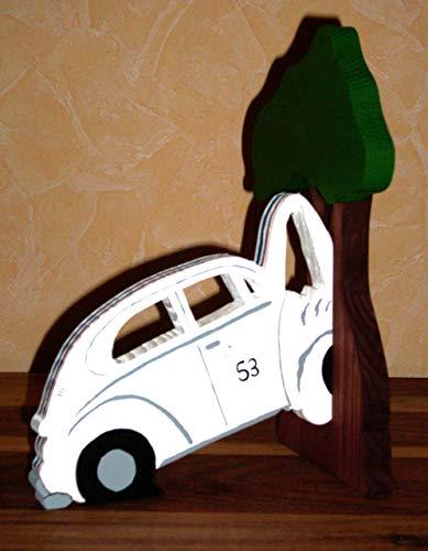 Buchstütze links  Käfer am Baum