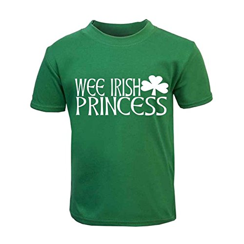 Wee Irish Princess Kinder T-Shirt St. Patricks Day Kids Top Kleinkind Irish St. Patricks Day Kids Top (3-6 ()