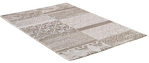 carpet city Designer Modern Hochwertig Teppich Classic Floral Rechteck Beige Braun Creme Öko Tex 200x290 cm