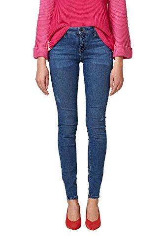 ESPRIT Damen Skinny Jeans 038EE1B025, Blau (Blue Medium Wash 902), 32/30