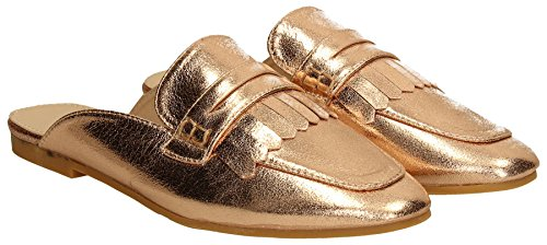 SwankySwans, Mocassini donna oro Gold Rose Gold