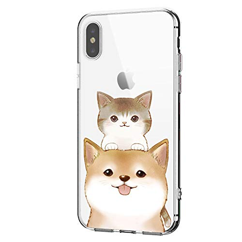 Funda Apple iPhone X Transparente Gel Silicona TPU Protectora Carcasa Antideslizante Ultra...