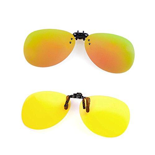Cyxus Aviator Brille,Sonnenbrille polarisiert [Entspiegelten] [UV Schutz] Fahren/Fischerei/Sport/Night Vision Eyewear, Männer und Frauen[2 Sätze ]