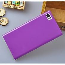 """Prevoa ® 丨 Silicona Funda Cover Caso Para Xiaomi Mi3 Mi3s M3 5.0"""" Smartphone - P¨²rpura"""