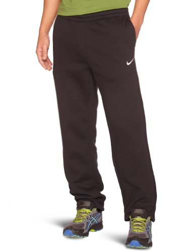 NIKE Herren lange Sporthose Fleece Cuffed Pants, Black/White, M, 404466