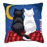 Vervaco PN-0008598 VER Kreuzstichkissen Nachtkatzen
