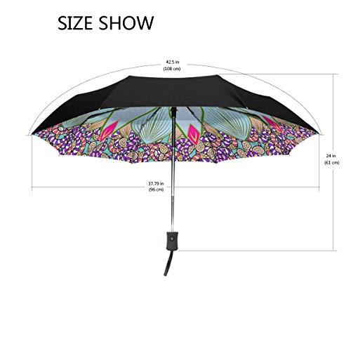 DEZIRO Abstract Hippie Mandala Outdoor?Umbrella?Auto Open Windproof Waterproof