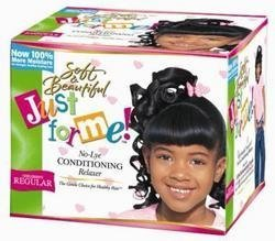 Soft and Beautiful Just for Me No-Lye Conditioning crema Relaxer, Children' S Regular 1 Kit by Soft & Beautiful (English Manual)