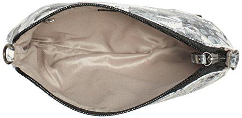 TamarisDORA Clutch Bag - Pochette Donna Multicolore (Mehrfarbig (white/black 105))