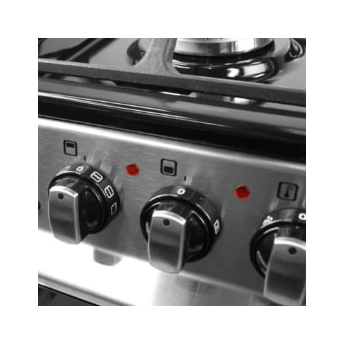 41O6RE8 %2BfL. SS500  - iQ 60cm Double Oven Dual Fuel Cooker - Stainless Steel