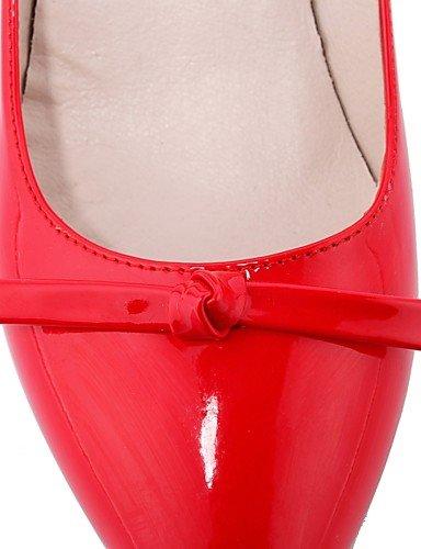 WSS 2016 Chaussures Femme-Bureau & Travail / Habillé / Décontracté-Noir / Rouge / Amande-Talon Aiguille-Talons / Confort / Bout Pointu-Talons-Cuir almond-us9 / eu40 / uk7 / cn41