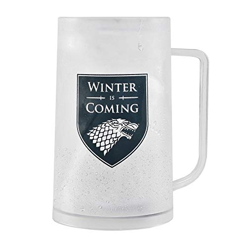 Game of Thrones Haus Stark Bierkrug für eiskalte Getränke - Game of Thrones Winter is Coming Bierglas Humpen