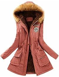 Tefamore Abrigos Mujers, Chaqueta de Mujeres La Moda Invierno Europea Chaqueta con Capucha de Cuello