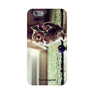 HomeSoGood Cute Kitten Playing Multicolor 3D Mobile Case For iPhone 6 (Back Cover)