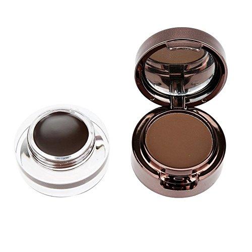Music Flower 4 in 1 Eyebrow & Eyeliner Cream Waterproof Cosmetic Set for Eye Makeup Black & Brown