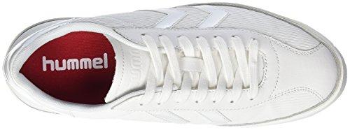 Hummel Damen Diamant White Stripes Sneaker Weiß (bianco)