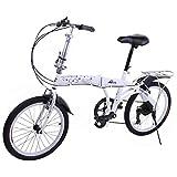 Riscko Metric Bicicleta Plegable Unisex con Ruedas de 20'' Color Blanco