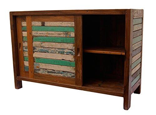 Vintage Teak gebogene Kommode, Kabinett, Sideboard, Schrank, Shabby, Antik Retro, Chic - 5
