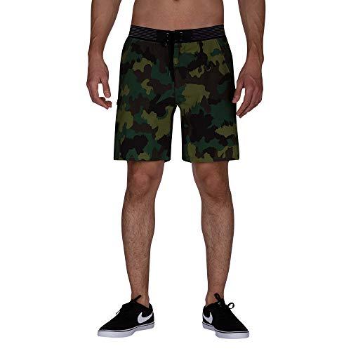 Hurley Herren M Phantom Alpha Trainer CAMO 18' Shorts, Cargo Khaki, M - Boardshorts Khaki