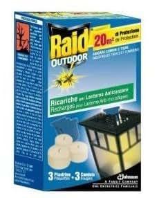Raid lanterne recharge anti moustiques usage exterieur 3 bougies 3 plaquettes - Prise anti moustique raid ...