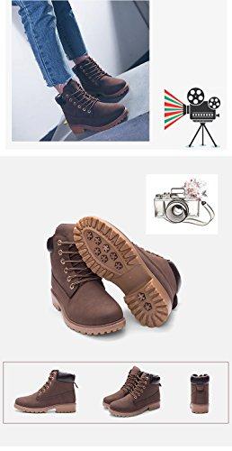 Boots Ragazza Stivali Corti Marrone Minetom Stivaletti Moda Stivaletti 6 Autunno Donna Adulto Martin Buchi TgTwCtpq
