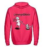 Shirtee Cocoloros Design: Die Leinenpöblerin - Unisex Kapuzenpullover Hoodie -M-Hot Pink