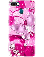 Think Tech Oppo A7 Designer Back Cover I Oppo A7 Printed Back Covers I A7 Stylish Phone Case - Cute I Fancy Pink Butterfly Woman I Girl