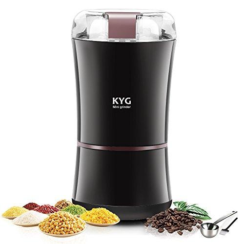 KYG Elektrische Kaffeemühle 300W Kaffeebohnen Nüsse Gewürze Getreide Kaffeemühle mit...