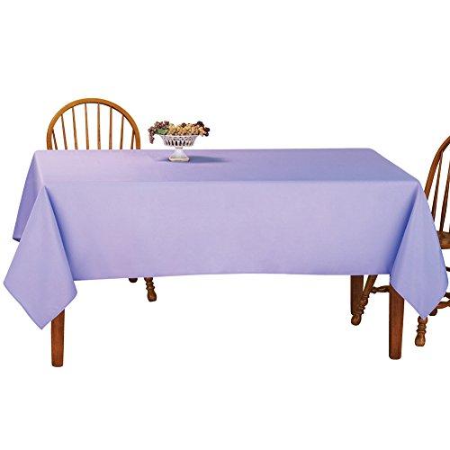 Basic Nappe Rectangulaire Table Linens, polyester & polyester mélangé, lavande, 152 x 228,5 cm (60 x 90\