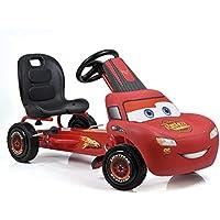 Hauck Cars Rayo McQueen Kart a pedales para niños | Neumáticos con perfil de goma | Freno de mano para las ruedas traseras | Asiento ajustable en 3 posiciones