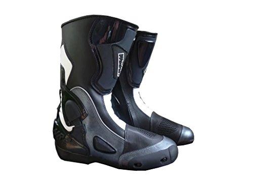 Stivali da moto con protezione antitorsione grigio uomo donna WinNet