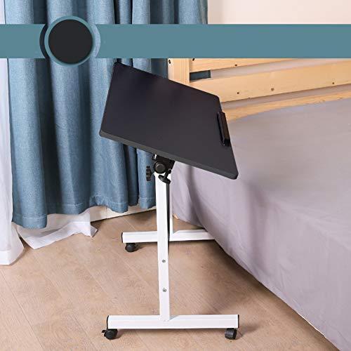 HYXL Verstellbar Rolling Laptop Desk Mit Rädern,Krankenhaus Beistelltisch Schreibtisch Warenkorb Für Die Pflege,tilt Computer-Stand Desktop Klapptisch Am Bett-e 80x40cm(31x16inch) -