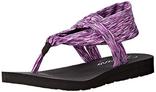 Skechers Meditation Studio Kicks, Sandales ouvertes femme purple