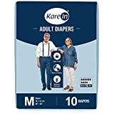 """Kare In Adult Diapers Medium 10 Count, Waist Size 76-114cm (30""""-45"""")"""