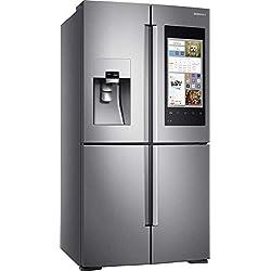 Samsung RF56M9540SR frigo américain Intégré Acier inoxydable 550 L A+ - Frigos américains (Intégré, Acier inoxydable, Porte française, LED, Porte-sur-porte, Tactil)