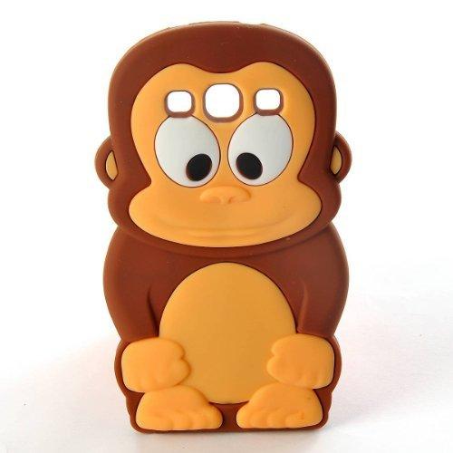 raun Unverschämter AFFE Monkey für Samsung Galaxy S3 I9300 Silikonhülle Shell Beschützer Handy Smartphone Zubehör ()