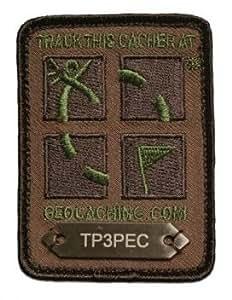 GPS Geocaching Logo Patch & Geocache