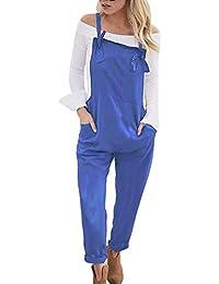Tomwell Mujer Baggy Peto Chicas Mono Largo Pantalones Harem Anchos Talla Grande Casual Moda Bolsillos Tiras Fiesta