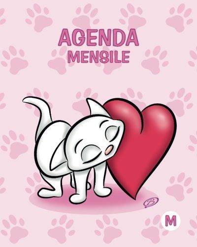 Agenda mensile - M: Rosa - Gatti - Perpetua (Senza date) - 15x19 cm