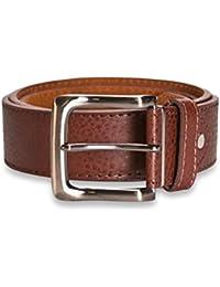 Hawkdale Cinturón de cuero para hombre - Ancho 40 mm - Perfecto para llevar con vaqueros - # 821-400