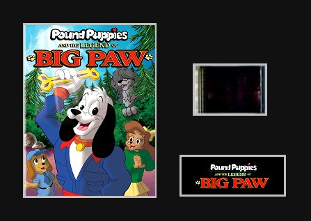 pound-puppies-and-the-legend-of-big-paw-1988-35mm-mounted-movie-film-cell
