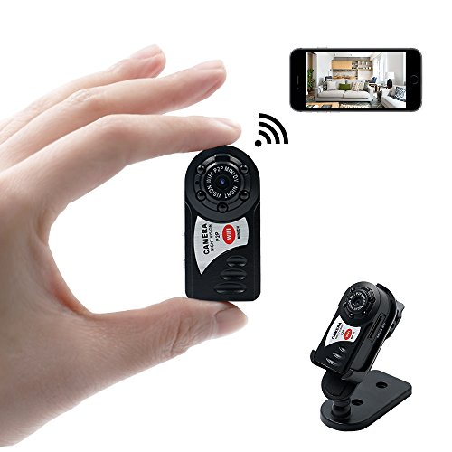 Telecamera spia nascosta, spy cam wifi, tangmi videocamera mini dv video registratore tascabile visione notturna a infrarossi controllo android ios