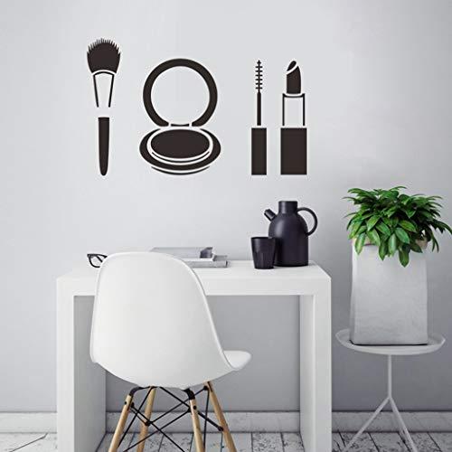 Neue Ankunft Wandaufkleber Dekor Aufkleber Mode Lippenstift Make-Up Mädchen Gesicht Beliebte Frau Wandpapier (Hexe Augen Make-up Ideen)