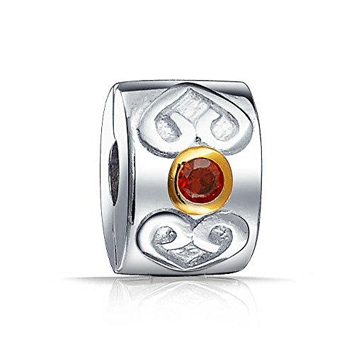 Romantische Keltisches Herz Rot Cz Spacer Stopper Verschluss Raupe Charme Für Frauen Für Freundin 925 Sterling Silber