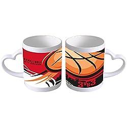 Taza Ceramica Deportes Baloncesto Corazon